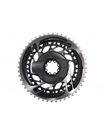 SRM KIT POWERMETER ARAÑA+PLATOS 46/33 DM RED AXS POLAR GREY